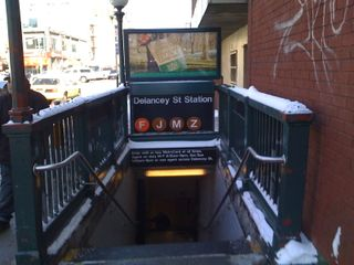 Delancey subway entrance